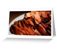 Christmas Ham with Guinness - Xmas card Greeting Card