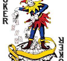 Joker Playing Card Sticker by ukedward