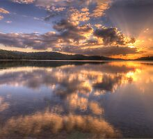 Light Show - Narrabeen Lakes , Sydney Australia - The HDR Experience by Philip Johnson