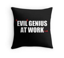 EVIL GENIUS AT WORK - Funny T-Shirt - Mens  Throw Pillow