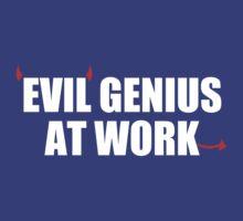 EVIL GENIUS AT WORK - Funny T-Shirt - Mens  by jokestore