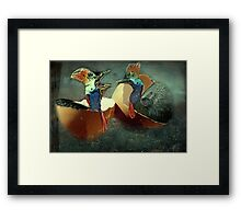 """You think I look silly ...? Man you look Hilarious!"" Framed Print"