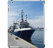 Fishing boat at mooring iPad Case/Skin