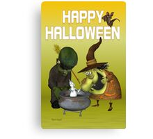 Pot Ghost .. halloween card Canvas Print