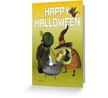 Pot Ghost .. halloween card Greeting Card
