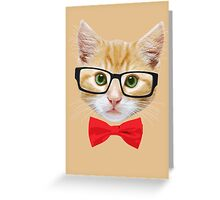 The Geek Cat Greeting Card