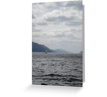 Yacht on Loch Ness Greeting Card