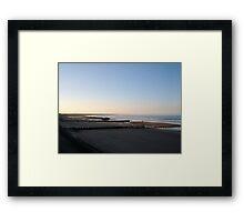 Aberdeen beach at dusk Framed Print