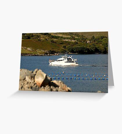 Cruiser at Killary Harbour, Ireland Greeting Card