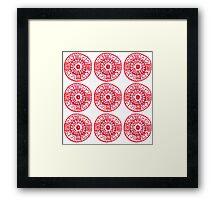 red ethnic pattern Framed Print