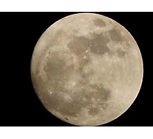 3-18-11 Super Moon Photographic Print