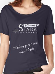 Stark Industries - Old Logo and Slogan Women's Relaxed Fit T-Shirt