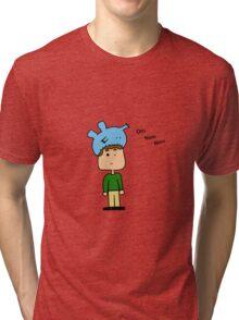 Om nom nom monster Tri-blend T-Shirt