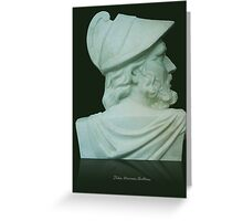Greek Bust Greeting Card