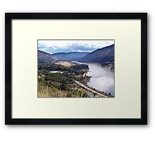 Columbia River at Trail Framed Print