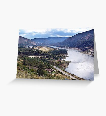 Columbia River at Trail Greeting Card