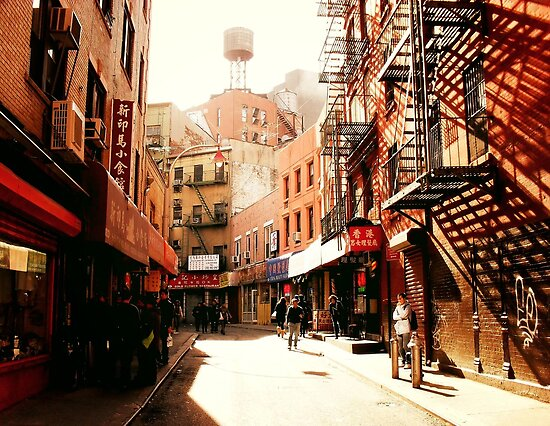 Doyers Street - Chinatown - New York City by Vivienne Gucwa