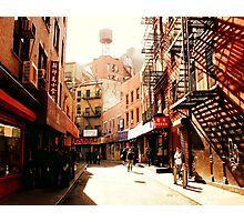 Doyers Street - Chinatown - New York City Photographic Print
