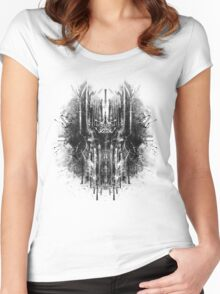 dark thoughts - sauron Women's Fitted Scoop T-Shirt