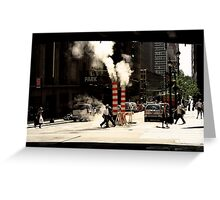 New York Steam Greeting Card