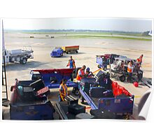 Airport Baggage Loading Scene By Jonathan Green Poster