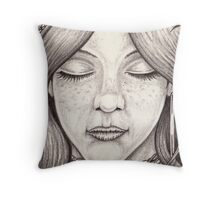 Dreaming in Black and White Throw Pillow