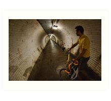 Riding under the Thames, GreenwichTunnel Art Print