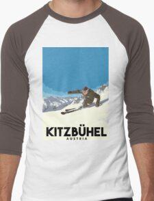 Ski Kitzbühel Austria Men's Baseball ¾ T-Shirt