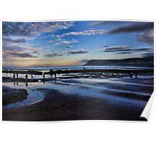 Robin Hoods Bay at dusk Poster