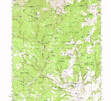 USGS Topo Map Oregon Sawtooth Creek 282869 1959 62500 by wetdryvac
