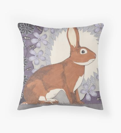 Jaime's Bunny Throw Pillow