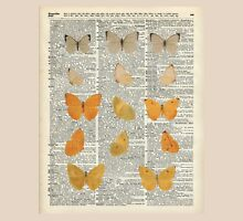 Yellow butterflies over encyclopedia book page,Monarch Butterfly Dictionary Art Unisex T-Shirt