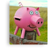 Pink Piggy # 11 Canvas Print