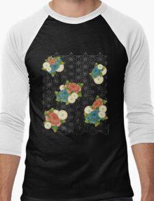 Asanoha pattern Men's Baseball ¾ T-Shirt
