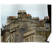 Rooftops and Chimneys Poster