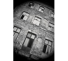 Derelict old apartment building in Warsaw Poland Photographic Print