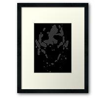 Leather_Face_2 Framed Print