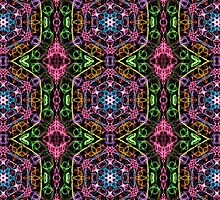 Hexagons Of Colour - Multicoloured Retro Pattern by TataniaRosa