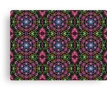 Hexagons Of Colour - Multicoloured Retro Pattern Canvas Print