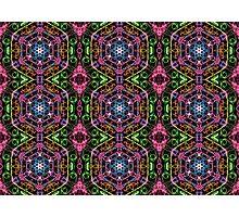Hexagons Of Colour - Multicoloured Retro Pattern Photographic Print