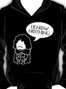 Funny Movie t shirt I Know Nothing, Jokes Movie, Humor T-Shirt