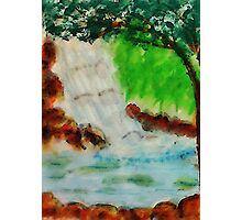 Cooling waterfall, watercolor Photographic Print