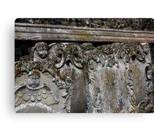 Gothic Headstones  Canvas Print