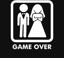 Game Over Funny T-Shirt Marriage Wedding Party Groom Couple Love T-Shirt Hoodie