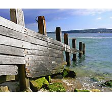 Groyne and The Solent Photographic Print