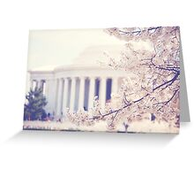 Cherry Blossoms at the Jefferson Memorial Washington DC Greeting Card