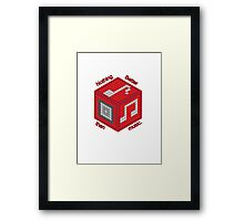 8 Bit Music Wonder Framed Print