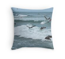 Pelican Madness Throw Pillow