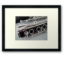 Clarinet Keywork Framed Print