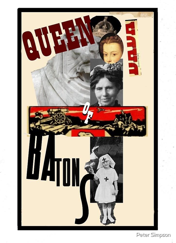Dada Tarot-Queen of Batons by Peter Simpson